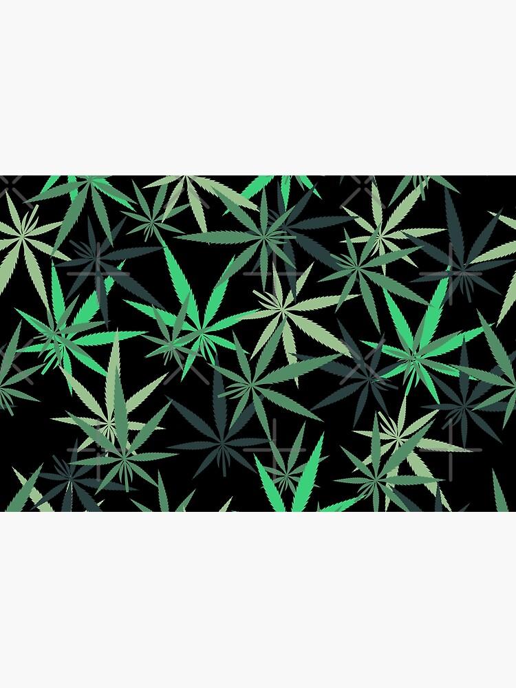 Rainbow of Green Marijuana Leaf  by RadicalLeaf