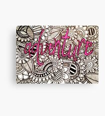 Adventure Zentangle Canvas Print