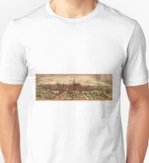 Groningen Vintage map.Geography Netherlands ,city view,building,political,Lithography,historical fashion,geo design,Cartography,Country,Science,history,urban Unisex T-Shirt