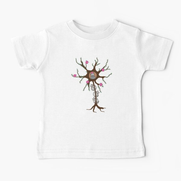 Neuron Tree with Nucleowlus and Meowlin Sheath Baby T-Shirt