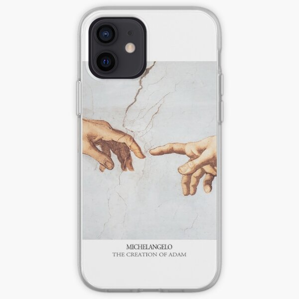 The Creation of Adam Michelangelo Fingers Touching iPhone Soft Case