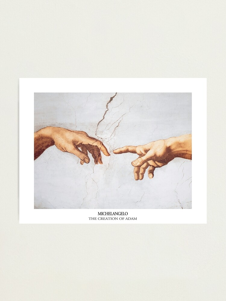 Alternate view of The Creation of Adam Michelangelo Fingers Touching Photographic Print