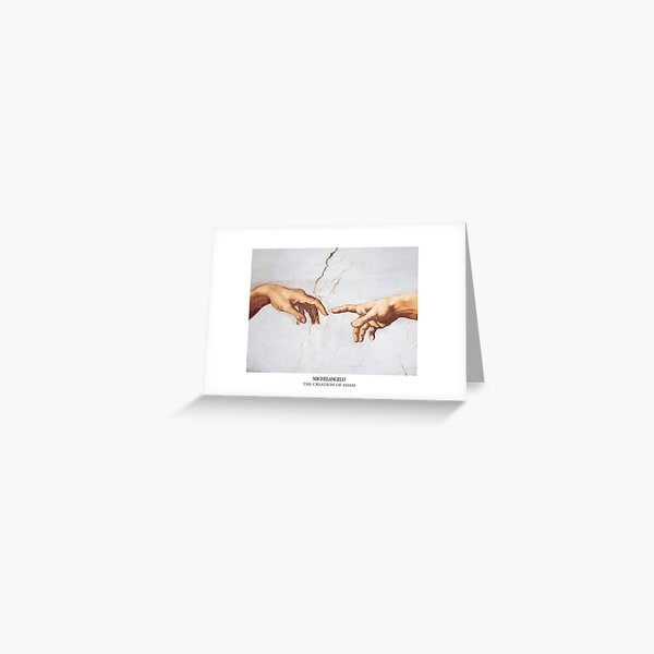 The Creation of Adam Michelangelo Fingers Touching Greeting Card