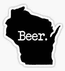 Wisconsin Beer WI Sticker