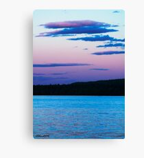 Sunset On Eagle Lake Canvas Print