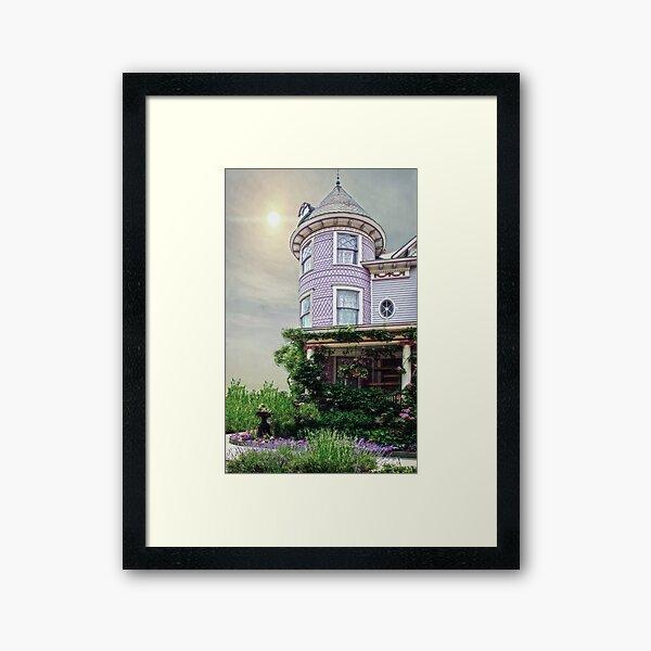 A Victorian Seaside Cottage Framed Art Print