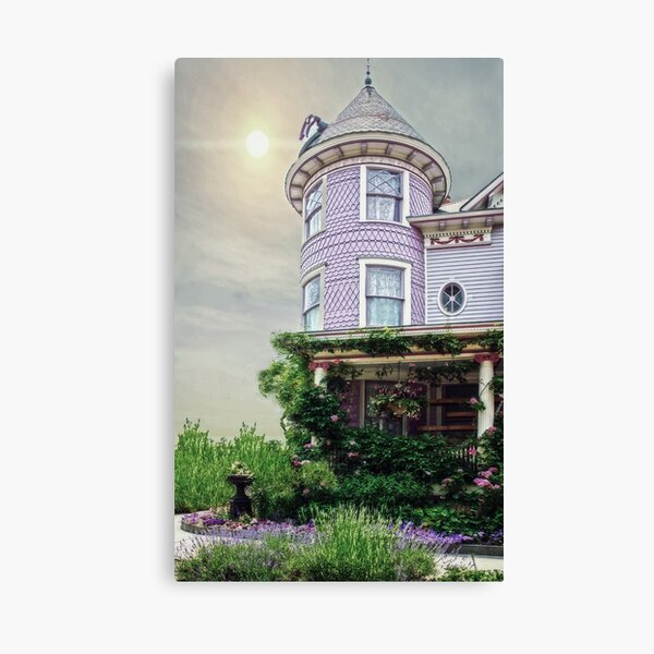 A Victorian Seaside Cottage Canvas Print