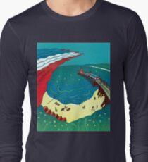 Red Arrows, Bournemouth Beach - Original linocut by Francesca Whetnall T-Shirt