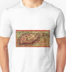 Gotha Vintage map.Geography Germany ,city view,building,political,Lithography,historical fashion,geo design,Cartography,Country,Science,history,urban T-Shirt