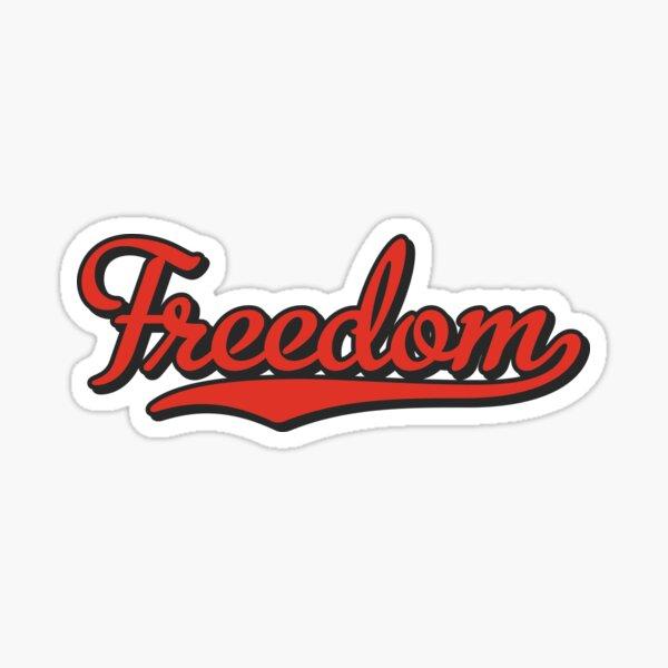 Freedom   Cool Motorcycle Sticker Sticker