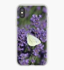 Butterfly on Lavender iPhone Case