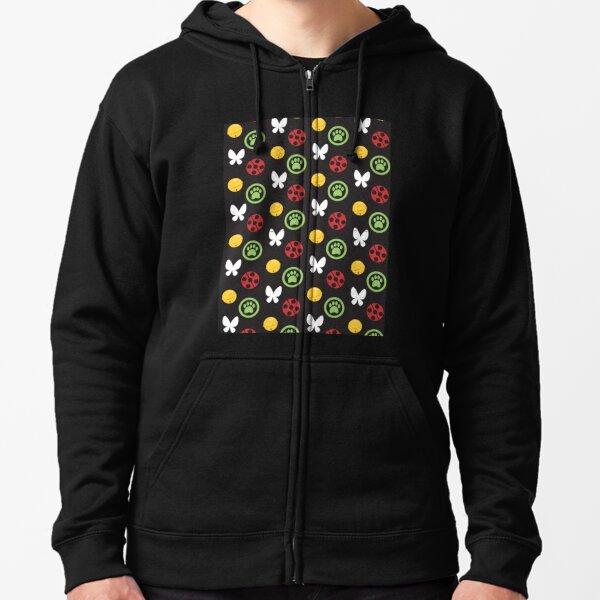 ML pattern Zipped Hoodie