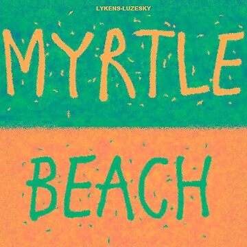 MYRTLE BEACH towel shirt by lykens-luzesky