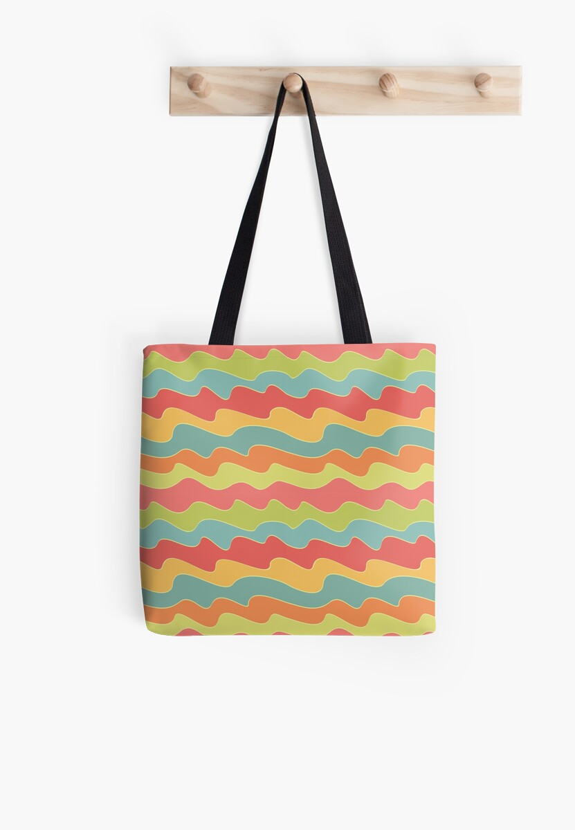 Retro colorful wave pattern. Pop seamless background.  by illucesco