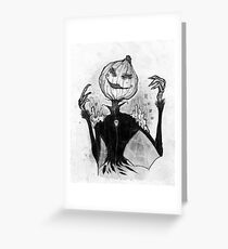 Sketchy Scarecrow Greeting Card
