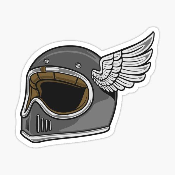 Motorcycle Helmet with wings Sticker