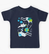 A Day Out In Space - Black Kids Tee