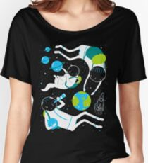 A Day Out In Space - Black Women's Relaxed Fit T-Shirt
