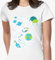 A Day Out In Space - Black Womens Fitted T-Shirt