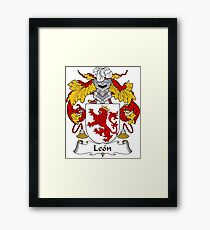 Leon Coat of Arms/Family Crest Framed Print