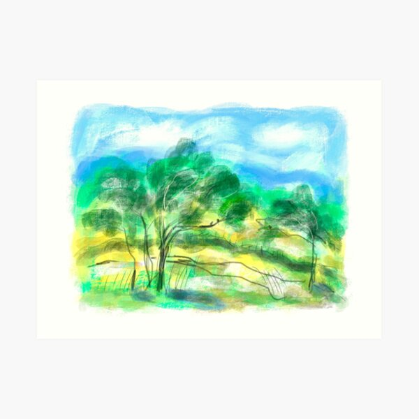 Australian Landscape 1/A Art Print