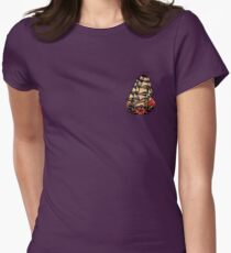 Sailor Jerry Pirate Ship Womens Fitted T-Shirt