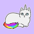 Rebel the Unicorn Cat – Lying Down by riotcakes