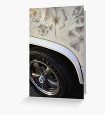 Hibiscus Flowered Volkswagen T25 Greeting Card