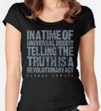 ORWELLIAN TRUTH Women's Fitted Scoop T-Shirt