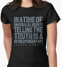 ORWELLIAN TRUTH Women's Fitted T-Shirt