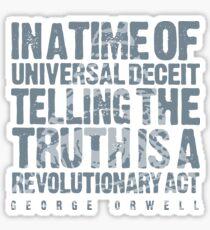 ORWELLIAN TRUTH Sticker