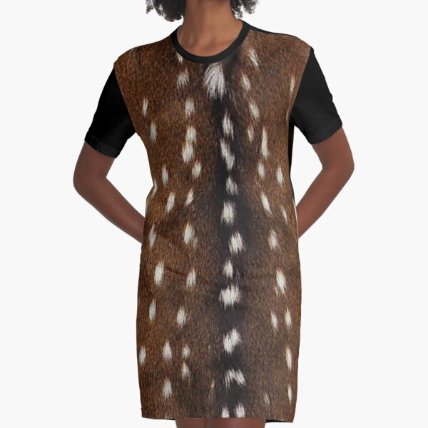 Natural deer skin Graphic T-Shirt Dress
