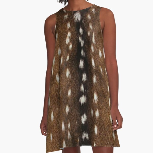 Natural deer skin A-Line Dress