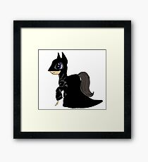 My Little Dark Knight - Justice Is Magic  Framed Print