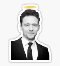 Tom Hiddleston with a halo  Sticker