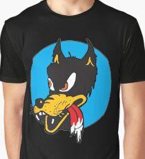Rockabilly Cartoon Wolf Graphic T-Shirt