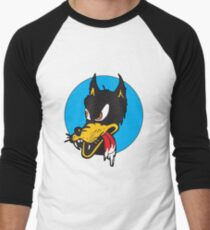 Rockabilly Cartoon Wolf Men's Baseball ¾ T-Shirt