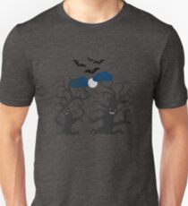 Dancing and smiling fantasy trees Unisex T-Shirt