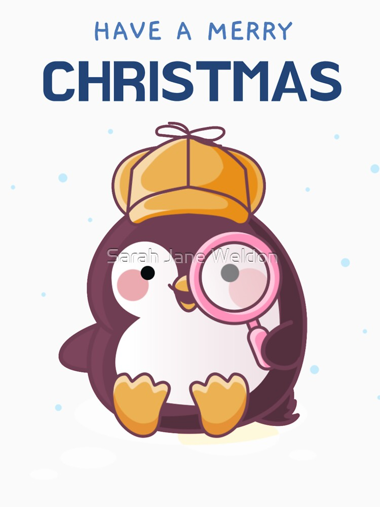 Have a Merry Christmas Cute Cozy Mystery Penguin Detective by SarahRowsSolo