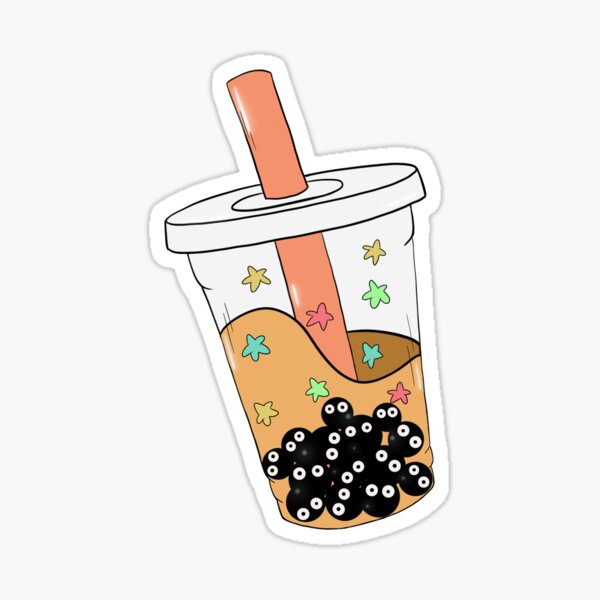 Soot Sprite Boba Tea  Sticker