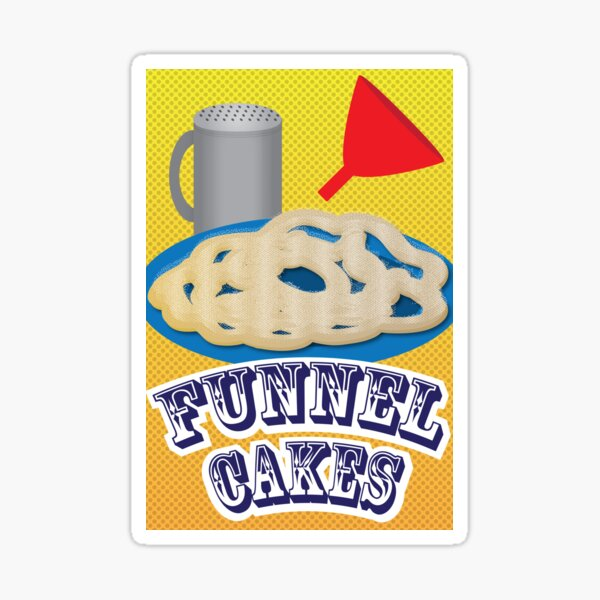 Funnel  Cakes  Sticker