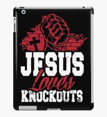 Jesus loves knockouts iPad Case/Skin