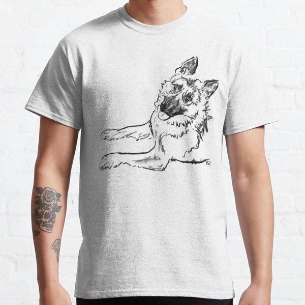 German Shepherd Drawing Classic T-Shirt