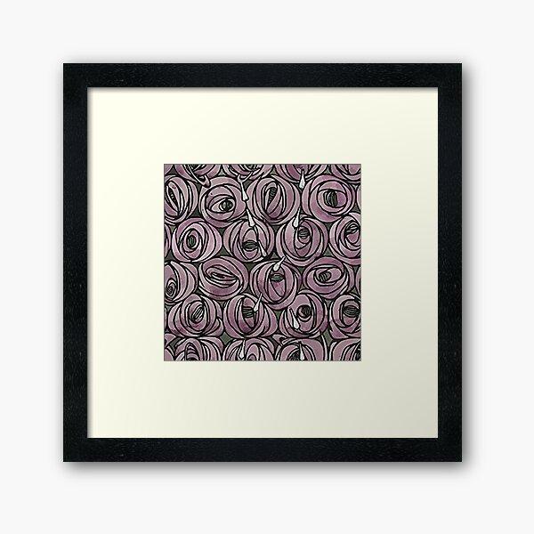 Charles Rennie Mackintosh flowers design Framed Art Print