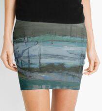 grey landscape Mini Skirt