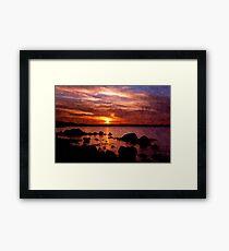 sun goes down Framed Print