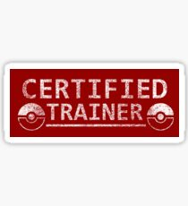 Certified Pokemon Trainer Sticker
