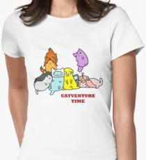 Catventure Time Women's Fitted T-Shirt