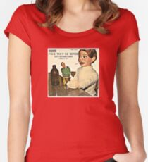 Vintage Record Smoking Puppet Women's Fitted Scoop T-Shirt