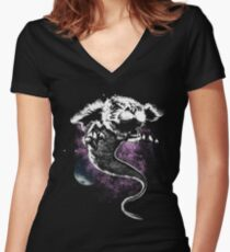 The Ever Cosmic Story Women's Fitted V-Neck T-Shirt